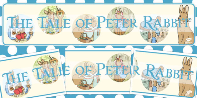 The Tale of Peter Rabbit Display Banner - display banner, rabbit