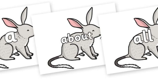 100 High Frequency Words on Bilby - High frequency words, hfw, DfES Letters and Sounds, Letters and Sounds, display words