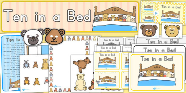 Ten in a Bed Resource Pack - australia, ten in a bed, resource