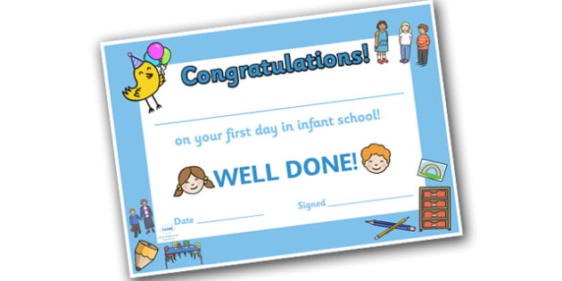 First Day Award Certificates P1 - First Day, First Day Award Certificate, Certificate, First Day Certificate, P1, Phase 1, Phase 1 Certificate