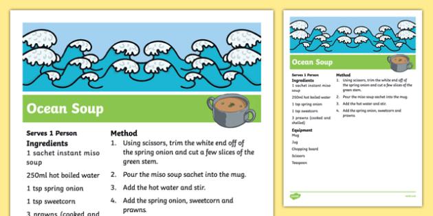 Ocean Soup Recipe