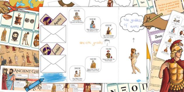 Ancient Greece Lapbook Creation Pack - lapbook, ancient greece