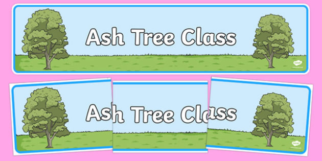 Ash Tree Themed Classroom Display Banner - Themed banner, banner, display banner, Classroom labels, Area labels, Poster, Display, Areas