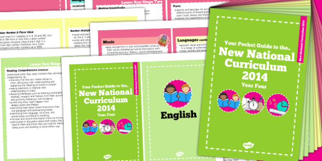 2014 Curriculum Cards Year 4 Core And Foundation Subjects