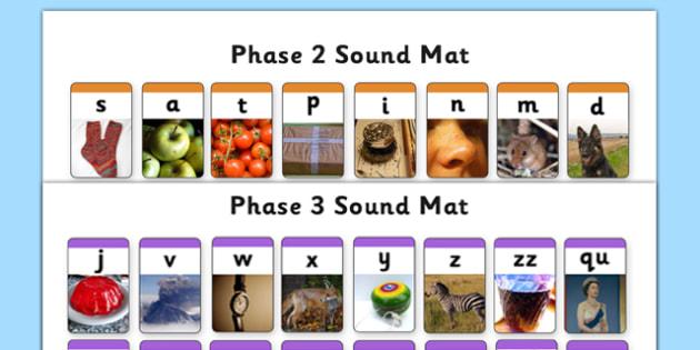 Phase 2 and Phase 3 Photo Sound Mat-phase 2, phase two, phase three, phase 3, photo sound mat, sound mat, phase, phase sound mat, photo mat, literacy