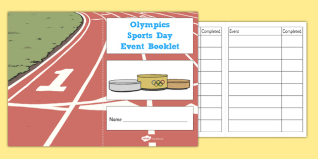Olympic Sports Day Event Booklet -Event Booklet, Olympics, London 2012, The Olympics, Sports Day, Event, Events, London, Olympic Games, 2012, Editable, booklet, note, book