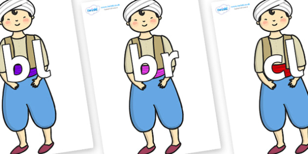 Initial Letter Blends on Aladdin - Initial Letters, initial letter, letter blend, letter blends, consonant, consonants, digraph, trigraph, literacy, alphabet, letters, foundation stage literacy