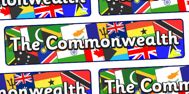 The Commonwealth Display Banner - The Commonwealth Display Banner, display, banner, sign, poster, commonwealth, the commonwealth, United Kingdom, British, 54, countries, England, Great Britain, community
