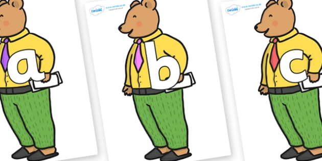 Phoneme Set on Mr Bear to Support Teaching on The Jolly Christmas Postman - Phoneme set, phonemes, phoneme, Letters and Sounds, DfES, display, Phase 1, Phase 2, Phase 3, Phase 5, Foundation, Literacy