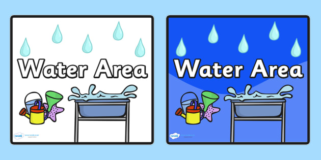 Water Area Sign - sign, display sign, area display sign, area sign, water area, water area display sign, water area sign, water sign, area, classroom areas, school areas, classroom area signs, topic signs, topic area signs