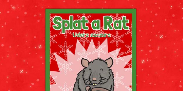 Christmas Themed Splat a Rat Poster Polish Translation - polish, christmas, themed, splat a rat, poster, display