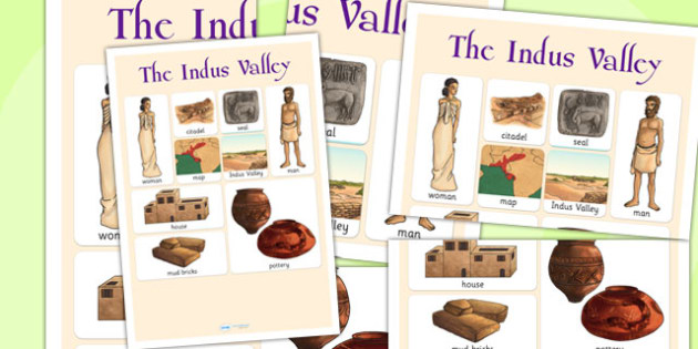 The Indus Valley Vocabulary Mat - bronze age, history, indus