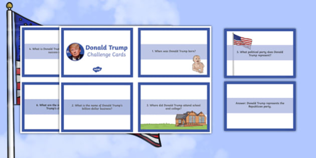 Donald Trump Biography Challenge Cards