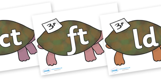 Final Letter Blends on Turtle to Support Teaching on The Great Pet Sale - Final Letters, final letter, letter blend, letter blends, consonant, consonants, digraph, trigraph, literacy, alphabet, letters, foundation stage literacy