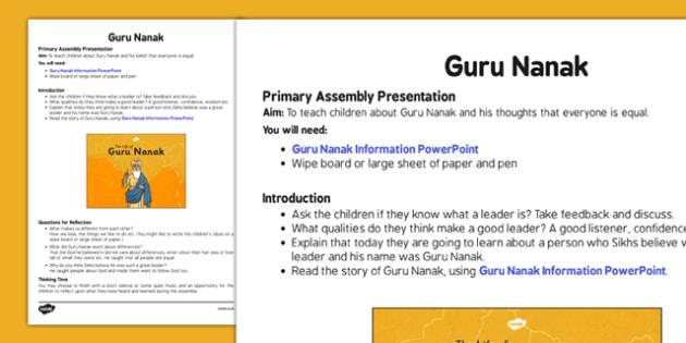 Guru Nanak Assembly Script - guru nanak, assembly script, assembly, script