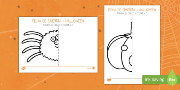 Halloween Ficha de simetría