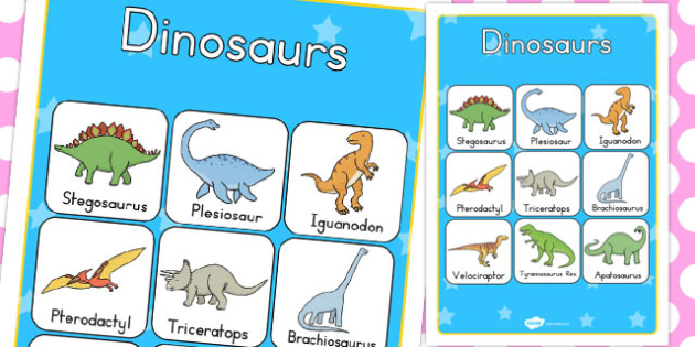 Dinosaur Vocabulary Poster - australia, dinosaur, vocabulary