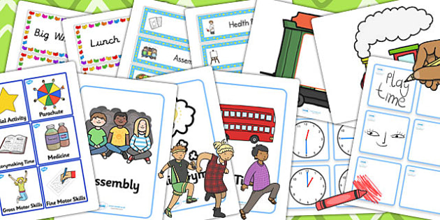 KS1 Visual Timetable Resource Pack - ks1, visual, timetable, pack