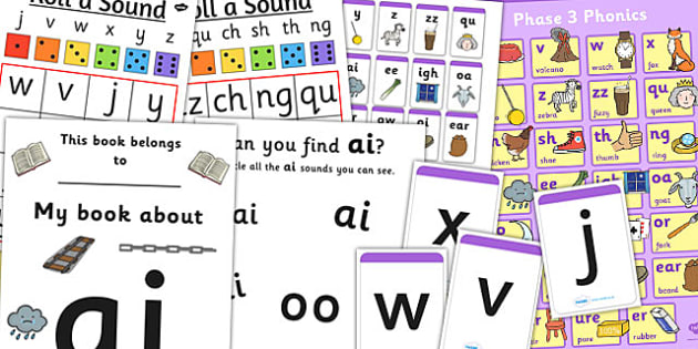 Teaching Assistant Phase 3 Phonics Resource Pack - phase 3, phonics
