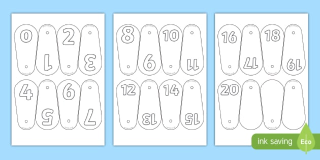 Number Fans (0-20) - Number fans, foundation stage, numeracy, problems solving, reasoning, numeracy, number recognition