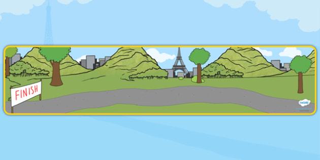 Tour de France Themed Editable Banner for Publisher - le tour