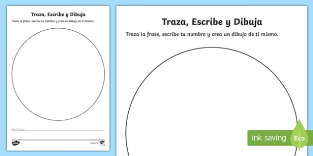 My Name Is Trace and Draw Activity Sheet, worksheet