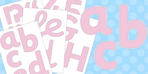 Neutral Pale Pink Display Letters and Numbers Pack - pale pink