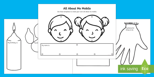All About Me Mobile - New Zealand, Back to School, mobile, All about me, new school, new year, new term, new class, myself