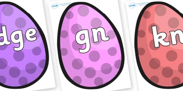Silent Letters on Easter Eggs (Spots) - Silent Letters, silent letter, letter blend, consonant, consonants, digraph, trigraph, A-Z letters, literacy, alphabet, letters, alternative sounds