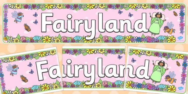Fairyland Display Banner - fairyland, display banner, display