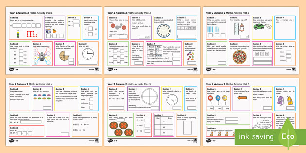 Year 2 Autumn 2 Maths Activity Mats