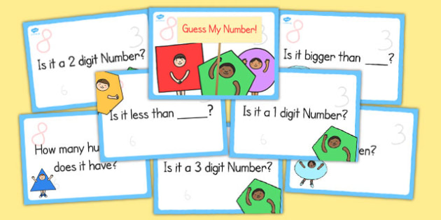 Question Prompts for Guess My Number - question, prompts, number