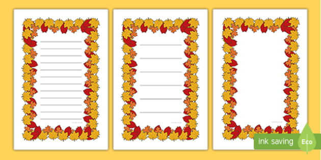 Autumn Themed Editable  Ikea Tolsby Prompt Frame