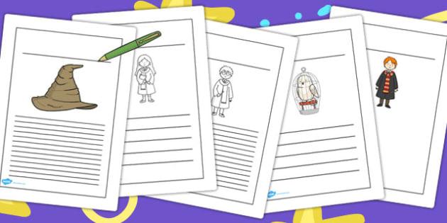 Wizard School Writing Frames - frame, write, worksheets, sheet