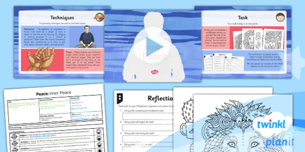 PlanIt - RE Year 5 - Peace Lesson 4: Inner Peace Lesson Pack - Inner Peace, Community Cohesion, Mindfulness, Shalom, Eastern, Western