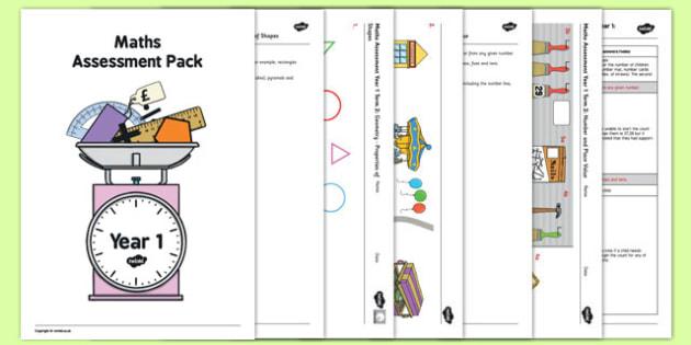Year 1 Maths Assessment Pack Term 2 - year 1, maths, assessment, pack, term 2