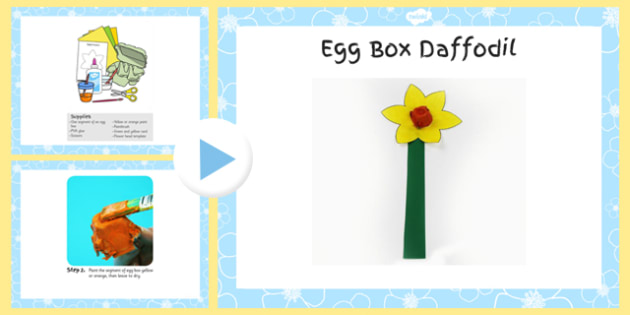 Egg Box Daffofil Craft Instructions PowerPoint - craft, powerpoint, egg, box, daffodil, instructions