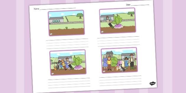 The Enormous Turnip Storyboard Template - storyboard, turnip