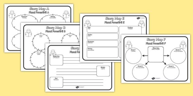 Story Map Worksheets Pack Romanian Translation - romanian, story map, worksheets, pack, story, map