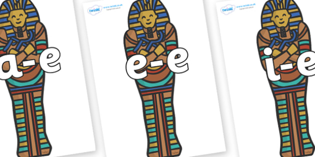 Modifying E Letters on Sarcophagus - Modifying E, letters, modify, Phase 5, Phase five, alternative spellings for phonemes, DfES letters and Sounds