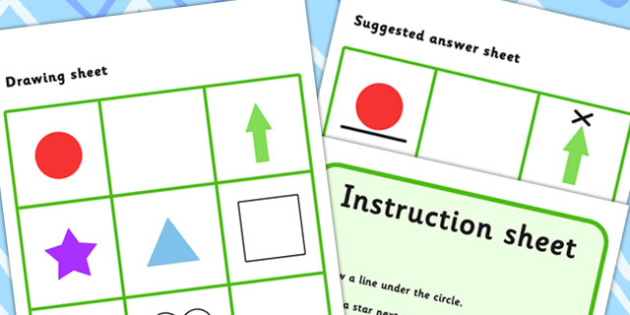 Listen And Do 1 Three Word Level - drawing, levels, worksheets
