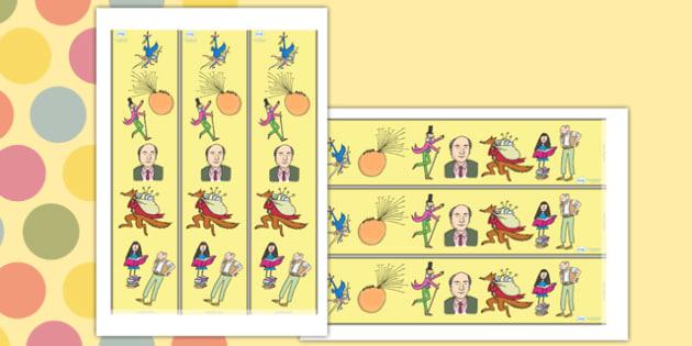 Roald Dahl Display Borders - Roald Dahl, display borders, roald dahl display borders, roald dahl borders, roald dahl page borders