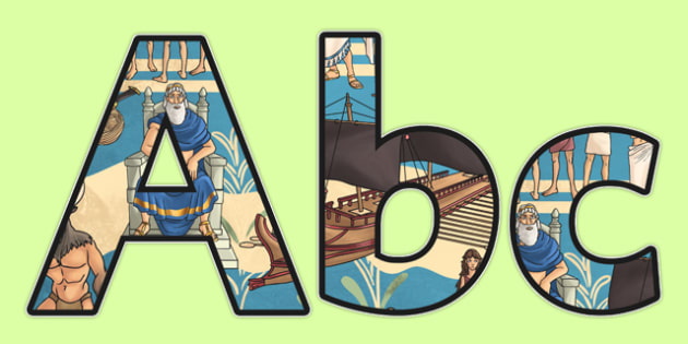 Theseus and the Minotaur Themed A4 Display Lettering - storybooks