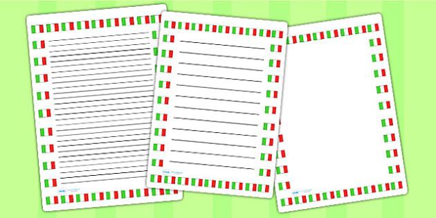 Italian Flag Page Borders - italian, flag, page borders, borders
