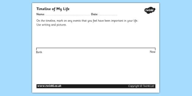 Personal Timeline Worksheets - personal timeline, timeline worksheet, my timeline, timeline of my life worksheet, make your own timeline, timeline template