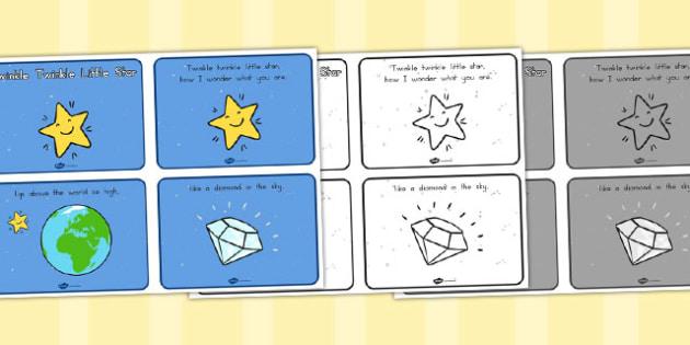 Twinkle Twinkle Little Star Sequencing - Twinkle, Little, Rhyme
