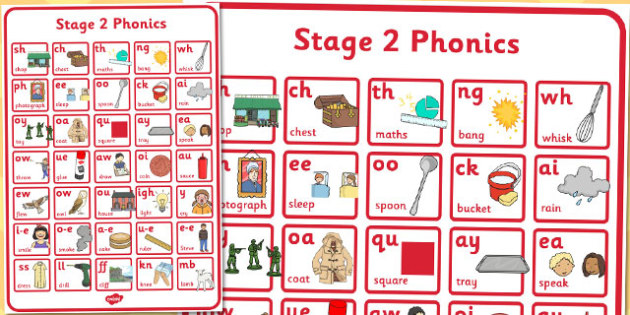 Active Literacy Phonics Programme Stage 2 Large Poster - poster