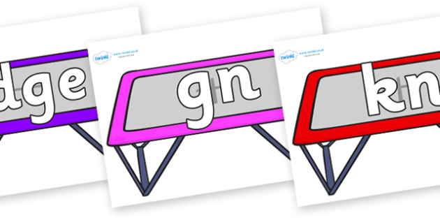 Silent Letters on Trampolines - Silent Letters, silent letter, letter blend, consonant, consonants, digraph, trigraph, A-Z letters, literacy, alphabet, letters, alternative sounds