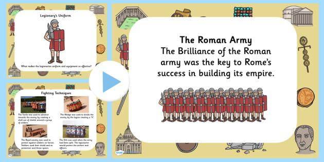 Roman Army PowerPoint - romans, the roman army, the romans, ancient romans, facts about the roman army, the roman army information powerpoint, ks2 history