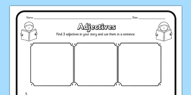 Adjectives Comprehension Activity Sheet - adjectives, comprehension